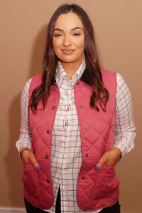 Barbour Gilet-Deveron-Ladies -Pink/Tayberry-LCI0041PI52