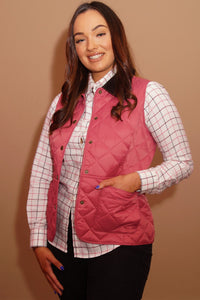 Barbour Gilet-Deveron-Ladies -Pink/Tayberry-LCI0041PI52 good fit
