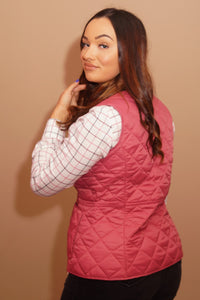 Barbour Gilet-Deveron-Ladies -Pink/Tayberry-LCI0041PI52 waist