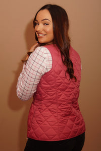 Barbour Gilet-Deveron-Ladies -Pink/Tayberry-LCI0041PI52 back
