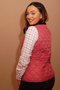 Barbour Gilet-Deveron-Ladies -Pink/Tayberry-LCI0041PI52 arm