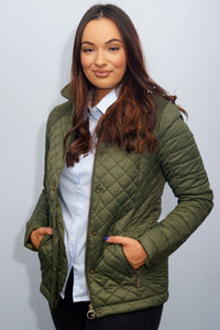 Barbour Quail-Ladies Quilted Jacket-Olive-LQU0973OL53 pockets