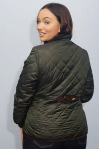 Barbour Liddesdale-Ladies Icons-Quilted jacket-Sage Green-LQU1074SG51 back