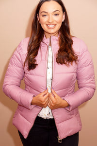 Barbour Brecon-Ladies Quilted Jacket-Pink Rose Bay-LQU1076PI32 front