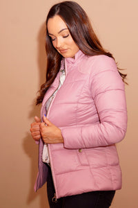 Barbour Brecon-Ladies Quilted Jacket-Pink Rose Bay-LQU1076PI32