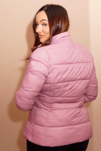 Barbour Brecon-Ladies Quilted Jacket-Pink Rose Bay-LQU1076PI32 back