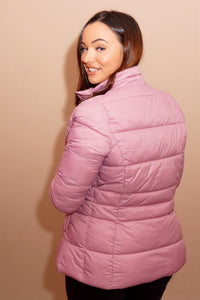 Barbour Brecon-Ladies Quilted Jacket-Pink Rose Bay-LQU1076PI32 fit