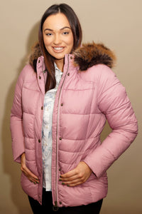 Barbour Quilt-Ullswater-Ladies Hooded Jacket-Pink-LQU1081PI32 warm