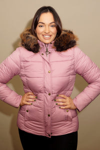 Barbour Quilt-Ullswater-Ladies Hooded Jacket-Pink-LQU1081PI32
