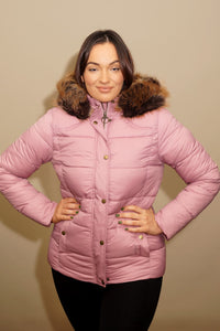 Barbour Quilt-Ullswater-Ladies Hooded Jacket-Pink-LQU1081PI32 front look
