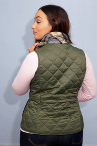 Barbour Gilet-Deveron-Ladies-Olive Green-LGI0041OL53 back