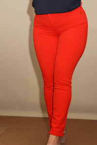 Barbour Jeans-Trouser Ladies Essential-Slim skinny stretch-Orange-LTR0158OR53 skinny