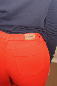 Barbour Jeans-Trouser Ladies Essential-Slim skinny stretch-Orange-LTR0158OR53 logo