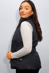 Barbour Gilet-Cavalry Ladies-Navy-LGI1001NY71 shirt