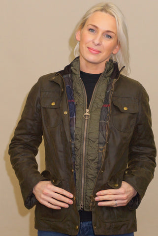 Barbour Ashley in Olive LWX0765OL51