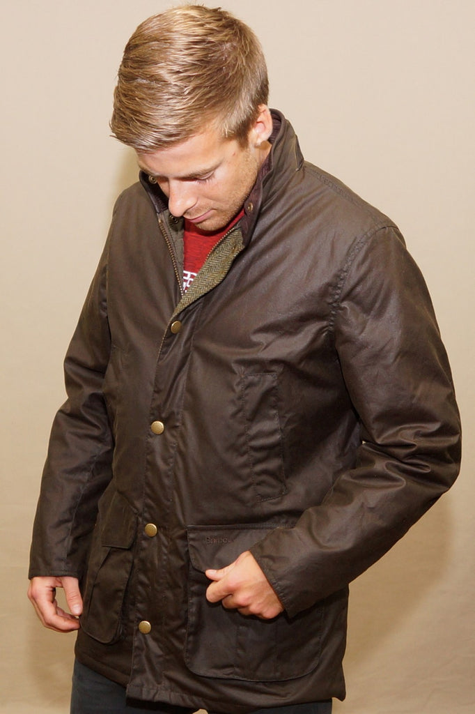 Barbour Hereford Wax Jacket Olive Mwx1213ol71 Smyths