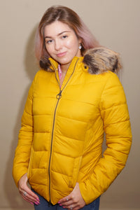 Barbour-Irvine-Ladies Quilted Jacket-Golden Yellow-LQU1227YE71