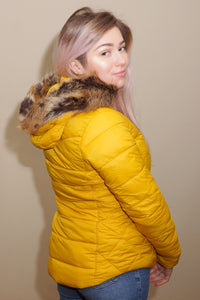 Barbour-Irvine-Ladies Quilted Jacket-Golden Yellow-LQU1227YE71 back