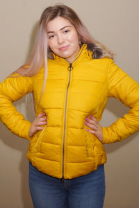 Barbour-Irvine-Ladies Quilted Jacket-Golden Yellow-LQU1227YE71 hips