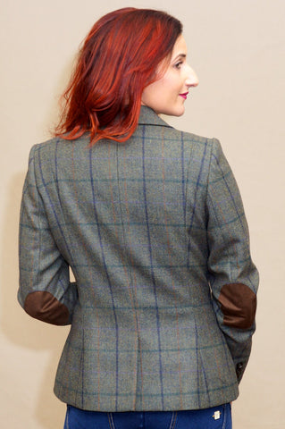 Barbour Ladies Tailored Tweed Jacket in Light Olive LTA0097GN55