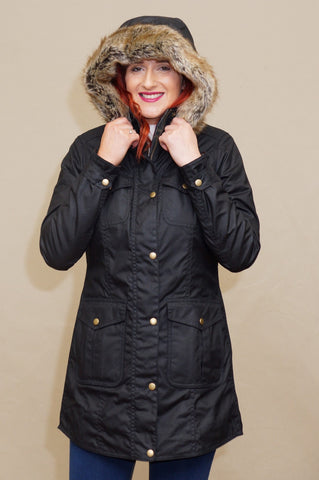 Barbour Ashbridge Ladies wax parka Jacket  LWX0751BK71