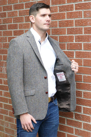 Harris Tweed mens wool jacket  AR9-63