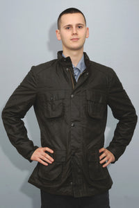 Barbour Corbridge-Wax Jacket-Olive Green-MWX0340OL71 zip