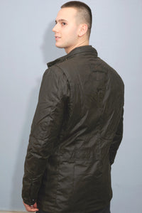 Barbour Corbridge-Wax Jacket-Olive Green-MWX0340OL71 back