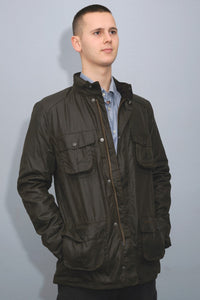 Barbour Corbridge-Wax Jacket-Olive Green-MWX0340OL71 open