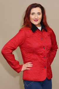Barbour Winter Liddesdale Polarquilt Jacket in Red LQU0363RE54