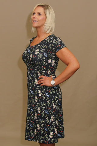 Barbour Dress Moorfoot in Navy floral pattern LDR0166NY91