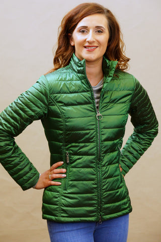 Barbour Iona Ladies Quilt in Clover Green Emerald LQU0703GN51