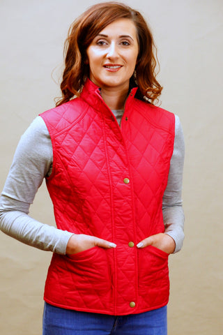 Barbour Gilet Ladies Summer Liddesdale in Raspberry LQU0235PI54