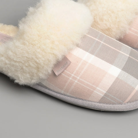 Barbour Lydia Mule Slippers - Pink/Grey - LSL0005PI11 - Pair Detail
