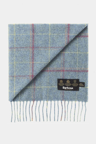 Barbour Scarf Newmarket Plaid Lambswool - Blue - USC0086BL11 - Display View