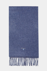 Barbour Scarf Plain Lambswool - Denim Blue - USC0008BL91 - Display View
