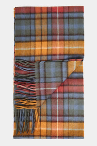 Barbour New Check Tartan Scarf - Antique Buchanan - USC0137BL11 - Display View
