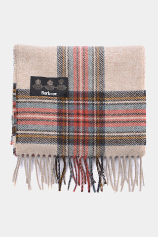 Barbour Scarf Abraham Moons Country Check - Cream - LSC0137CR11 - Display View
