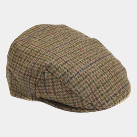 Barbour Crieff Cap - Dark Olive Check - MHA0009OL91 - Profile View