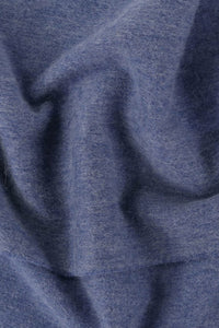 Barbour Scarf Plain Lambswool - Denim Blue - USC0008BL91 - Fabric Detail