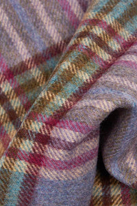 Barbour Scarf Dunnock Lambswool - Lilac Multi Plaid - LSC0218PU51 - Fabric Detail