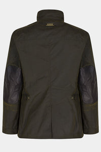 Barbour Ogston Wax Jacket - Olive - MWX0700OL51 - Flat Back