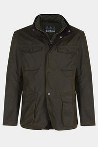 Barbour Ogston Wax Jacket - Olive - MWX0700OL51 - Flat Front