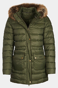 Barbour Ladies Redpoll Quilt Jacket - Olive - LQU0975OL51 - Flat