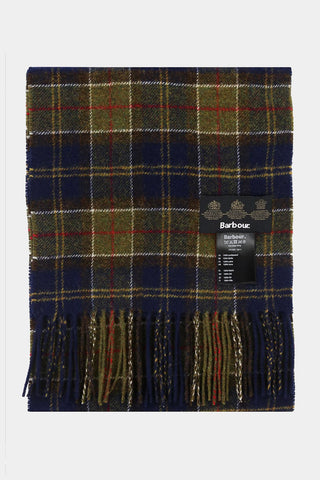 Barbour Scarf Tartan Lambswool - Forest Tartan - USC0001GN11 - Folded View