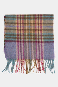 Barbour Scarf Dunnock Lambswool - Lilac Multi Plaid - LSC0218PU51 - Display View