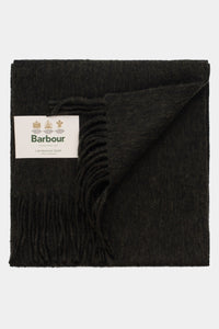 Barbour Scarf Plain Lambswool - Seaweed - USC0008GN31 - Front View