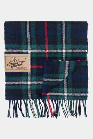 Barbour Scarf New Check Tartan - MacKenzie Tartan - USC0137NY92 - Folded View