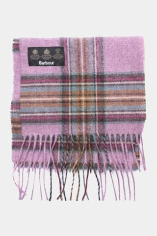 Barbour Scarf Abraham Moons Country Check - Pink - LSC0137PI19 - Folded View