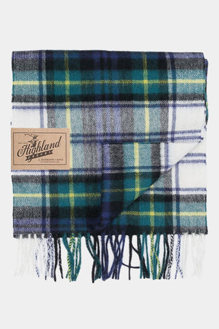 Barbour Scarf New Check Tartan - Dress Gordon - USC0137GN11 - Folded View
